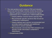510(k) Format Guidance, Including Standards Form, and Extensions ...